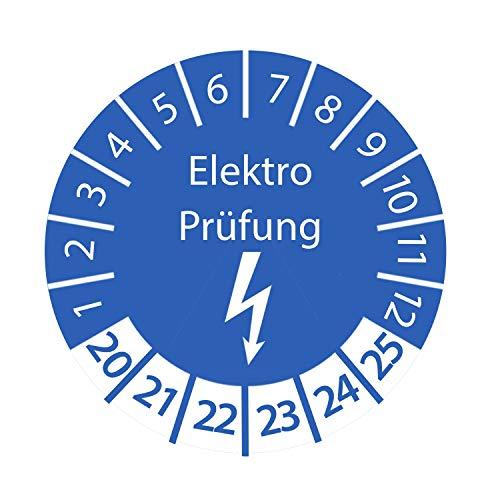 Prüfplakette Elektro Prüfung 2020-2025 Ø 30mm Rund Blau Prüfetikett Prüfaufkleber Größe 100 Stk