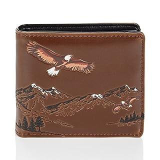 Shagwear Herren Geldbörse, Mens Wallet: Verschiedene Farben und Designs: (Adler/Mountain Eagle)