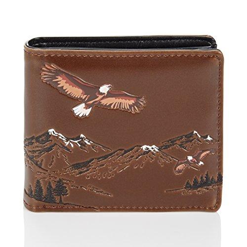 Shagwear - Monederos para hombre jóvenes: Varios colores y diseños: (águila de montaña/Mountain Eagles)