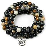Boutique-Armband Pulsera De Cuentas Negras Naturales Lady Charm Bracelet Yoga Marathon 108 Buddha Statue Necklace Mens Zen Jewelry