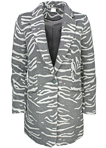 Yaya Mantel Zebra-Look Grau Zebra-Look