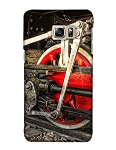 PrintHaat Back Case Cover for Samsung Galaxy Note 5 Edge :: Samsung Galaxy Note 5 Edge 2 (old style train wheel in red :: engine of a train :: rail engine in red and black)