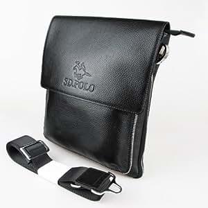 hommes en cuir de serviette / sac à bandoulière en cuir pour Homme - 100% cuir pleine réel - FGHGZ022BA - couleur noire
