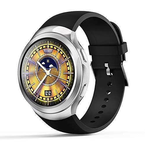 JINRU Smart Watch GPS Global Positionierung Herzfrequenz-Monitor Sport-Pedometer Schlaf-Überwachung,Silver