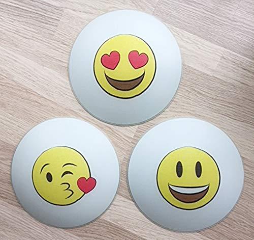 mpe * SMILEY EMOJI Mund Augen Herz Glitzer gelb rot * auch LED ()