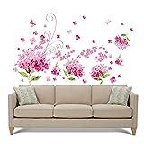 #8: SYGA Beautiful Flower Bookey Wall Sticker Wall Decals - OKT_YUAY