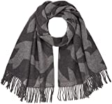 GANT Damen Schal O2. Dove Scarf Grau (Charcoal Melange) One size