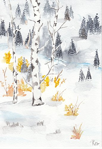 Aquarell Winter O