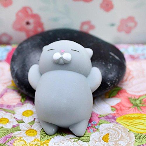 Stress Relieger Mochi Squishy Katze, Moonuy Nette Squeeze Healing Fun Kinder Kawaii Spielzeug Stress Reliever Dekor (A) - 3