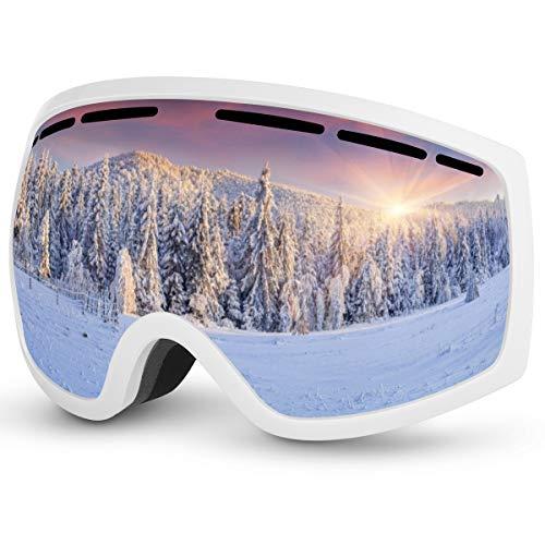 Baban Skibrille, Schutzbrille zum Skifahren, UV-Schutz, Anti-Fog, Snowboardbrille Kompatibel mit Helmen und Brillen, verwendet beim Radfahren, Wandern, Skateboarden