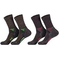 socksPur 1 Paar Funktions- u. Trekking-Socken mit Merinowolle mit Spezialpolsterungen (35-38), (39-42), (43-46), anthrazit o. taupe