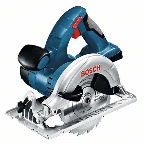 Bosch Professional 060166H00A GKS 18 V-LI Akku-Kreissäge, 2 x 5, 0 Ah Akku, Schnellladegerät, Parallelanschlag, L-Boxx (18V, Schnitttiefe: 51mm (91°); 40mm (45°), Sägeblatt-Ø: 165 mm), 0 W, 18 V