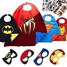 Bereiten Sie sich auf legendäres Spielen vor, mit diesem LÆGENDARY-Superhelden-Kostümset! SCHÖNHEIT & SICHERHEIT IM DETAIL:  Einzigartiges Captain America-Logo, das im Dunkeln leuchtet: Setzen Sie das Captain America-Cape & die Maske für mind...