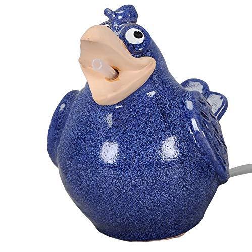 Gartenzaubereien Wasserspeier Vogel blau, Keramik