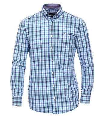 CASAMODA Herren Regular Fit Freizeithemd 441901900/100, Gr. Kragenweite: 42 cm (Herstellergröße: L), Blau