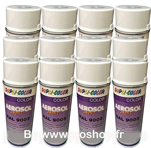 DUPLI-COLOR Malerei Aerosol Farbton Farbe Weiß RAL 9003Spray 12x 400ml