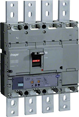 HAGER H1000 - INTERRUPTOR AUTOMATICO CAJA MOLDEADA/0 H1000 4P4R 50KA 800A LSI