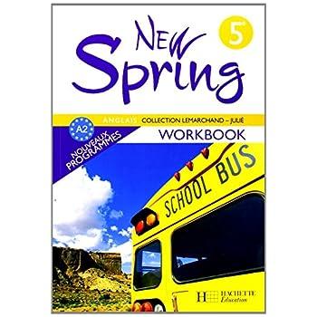 Anglais 5e New Spring : Workbook