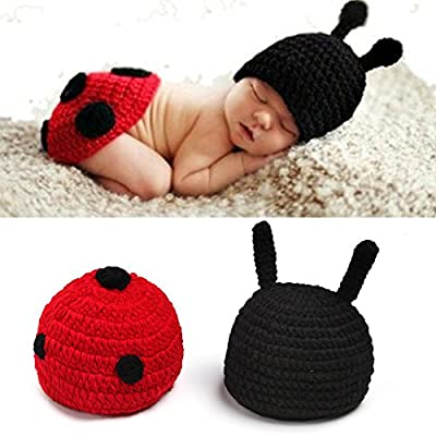 Sunfire Baby Girl Boy Clothing Crochet Knit Costume Photo Photography Prop Set Beetle