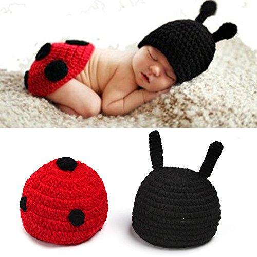 Sunfire Baby Girl Boy Kleidung Crochet Knit Kostüm Foto Fotografie Prop Set Käfer (Für Baby-girl-kostüm Halloween)