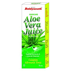 Baidyanath Aloe Vera Juice with Pulp – An All-Round Tonic for Skin and Hair – 1L