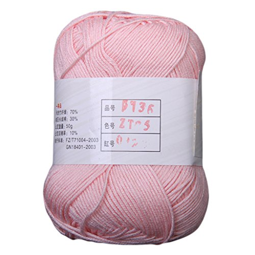 Imported Tencel Bamboo Cotton Yarn For Baby -Light Pink