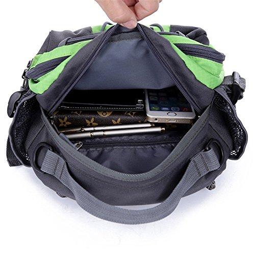 Wewod impermeabile Borse a spalla/outdoor Chest Bag Camping Bosom Bag/Grande capacità sport marsupio, Uomo Donna Bambini, nero, M Orange