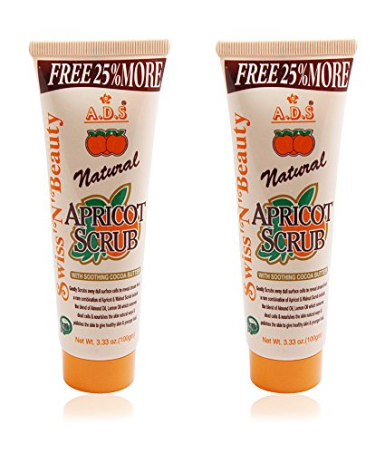 Adbeni Ads Natural Apricot Scrub 100 Grams Pack Of 2 With Liner & Rubber Band -Phss