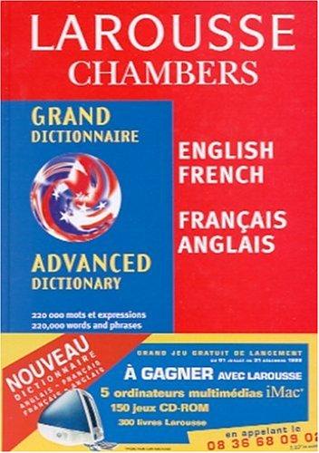 Grand dictionnaire Larousse Chambers : Anglais-français, français-anglais