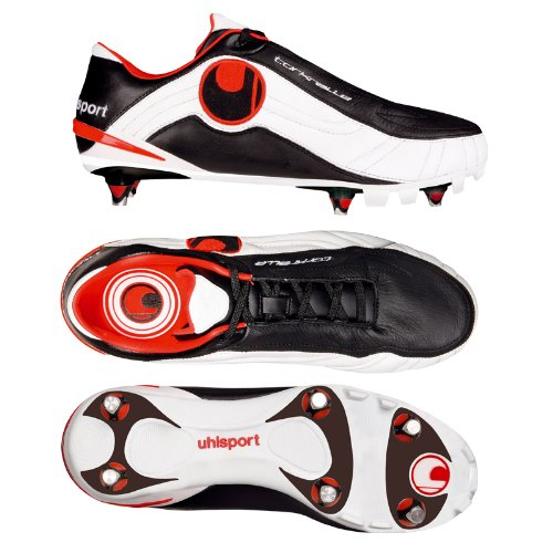 uhlsport Torkralle SC 100820001, Unisex - Erwachsene Sportschuhe - Fusball, schwarz, (black/red 01), EU 43, (UK 9)