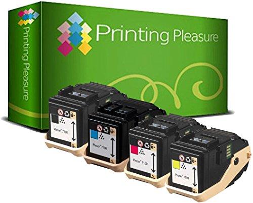 4er Set Premium Toner kompatibel für Xerox Phaser 7100, 7100N, 7100DN, 7100V/N, 7100V/DN - Xerox Laser-drucker Fuji