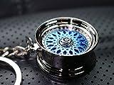 VmG-Store BBS Style Blau Felge Schlüsselanhänger - massiver Anhänger OEM VAG Dub