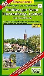 Radwander- und Wanderkarte Feldberger Seen, Fürstenberg, Lychen und Umgebung: Ausflüge zwischen Neustrelitz, Fürstenwerder, Boitzenburger und Klosterwalde. 1:50000 (Schöne Heimat)