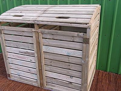 Mülltonnenbox 2 Tonnen Müllcontainer Müllbox Mülltonnenverkleidung 150 x 126 cm( von BIHL - Du und dein Garten