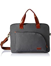 Ruosh Canvas 38 cms Grey Messenger Bag (mes-bag-5502)