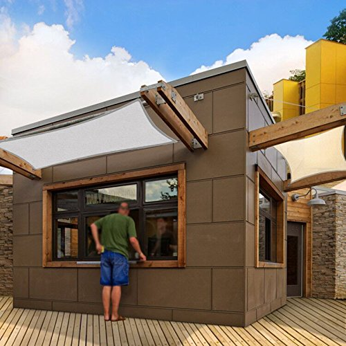 SAFETYON 4x4/6/8M Sonnenschutz Sonnensegel Segel Garten Shade Sail Schattensegel Sonnenschirm Zelt...