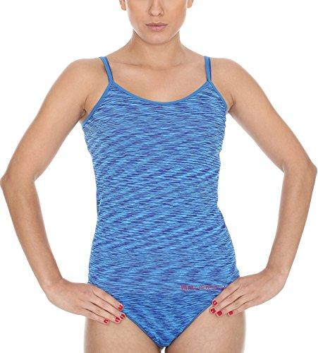 Brubeck CM 10110 FUSION CAMI sole senza spalline-shirt (traspirante ad asciugatura rapida) Blu - blu