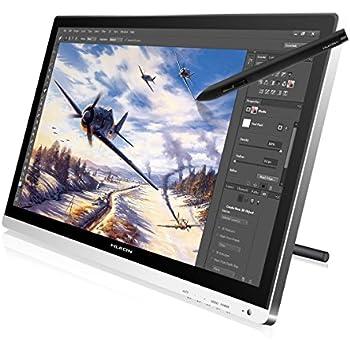 """Huion® GT-220 Tavoletta grafica con monitor IPS FullHD da 21.5"""", penna digitale e guanto da disegno"""