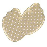 uxcell Metatarsal Pad for Women Men Memory Foam with Breathable High Heel Inserts Sponge Cloth Ball of Foot Cushions Khaki Polka Dot 4 Pairs