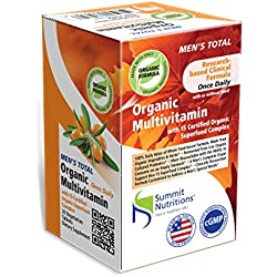 Summit Nutritions Organic Men's Total Whole Food Multivitamins Tablets - 30 Tablets