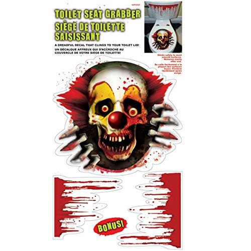 oween WC Sticker Toiletten Aufkleber Clown Toilettensitz Tattoo Halloweenparty Deko Bad Halloweendeko Klo ()
