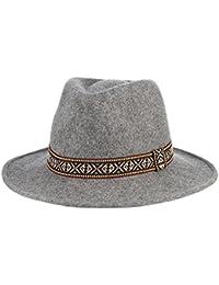 MARRYME Sombrero Fedora de Lana Mujer Panamá Invierno con Banda