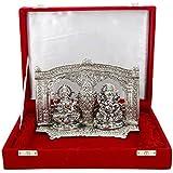 Msa Jewels Silver Plated Laxmi Ganesha God Idols 92.5 Oxidized Silver Finish Exclusive Gifts For Diwali,New Year,House Warming, Wedding ,Anniversary , Home Decor , Return Ceremony