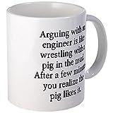 CafePress - Arguing Engineer - Coffee Mug, Novelty Coffee Cup by CafePress