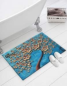 b7 CREATIONS Chenille Velvet Anti Skid Door/Floor Mat for Home Entrance/Kids/Kitchen/Living Room - 16x24 Inch