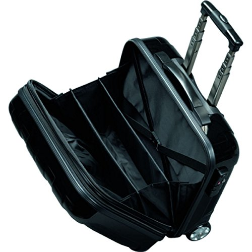 JSA – 45513 – business trolley with removable laptop case, abs polycarbonate, black