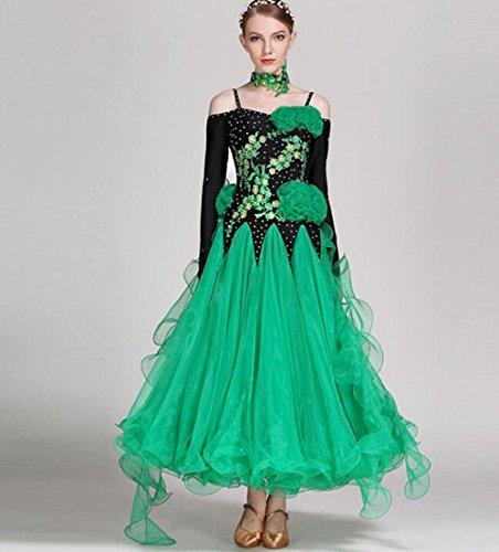 Kostüm Dance Swing Ballroom - RENMEN Modernes diamantbesetztes Kleid Kleid nationalen Standard Ballroom Dance Kleid Kleid Kostüm, XXL