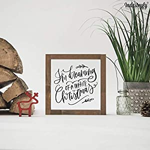"""Farmhouse Design Schild in 20×20 cm""""white Christmas"""" Weihnachtsdeko Landhaus Deko Weihnachten"""