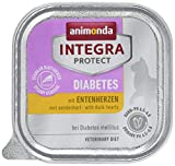 Animonda Integra Protect Diabetes mit Entenherzen 16 x 100 g Schalen, 1er Pack (1 x 1.6 kg)