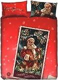 Bettbezug Santa Einzelbett Bassetti (Deckenbezug 155x 200+ 45Klappe Umschlag = 245+ 1Bettlaken 90x 200+ 1Kissenbezug 50x 80) in